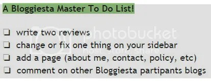 Bloggiesta to-do list for @JLenniDorner