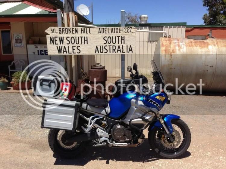 Super Tenere at the South Australian Border