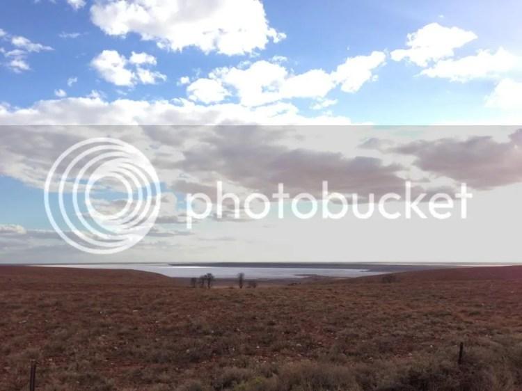 Lake between Port Augusta and Pimba