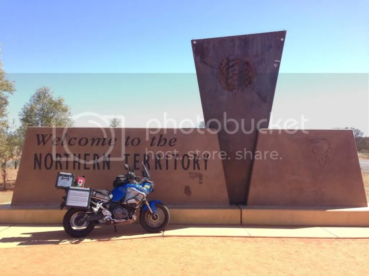 Super Tenere at the Northern Territory Border