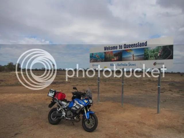 Super Tenere on NSW QLD Border near Hebel