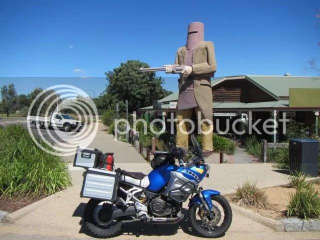 Motorcycle at Big Ned Kelly Glenrowan VIC