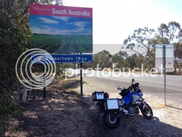 Super Tenere Motorcycle at VIC SA Border