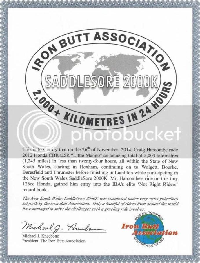 SS2000K Certificate
