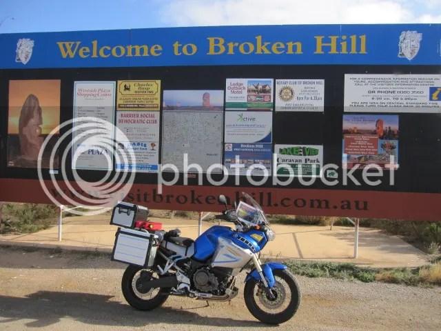 Super Tenere at Broken Hill