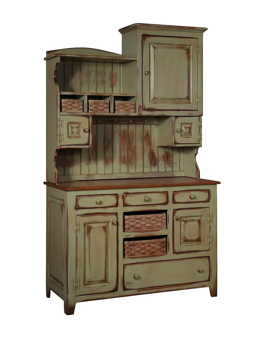 amish country kitchen hutch farm house pantry cupboard on country farmhouse furniture id=95439