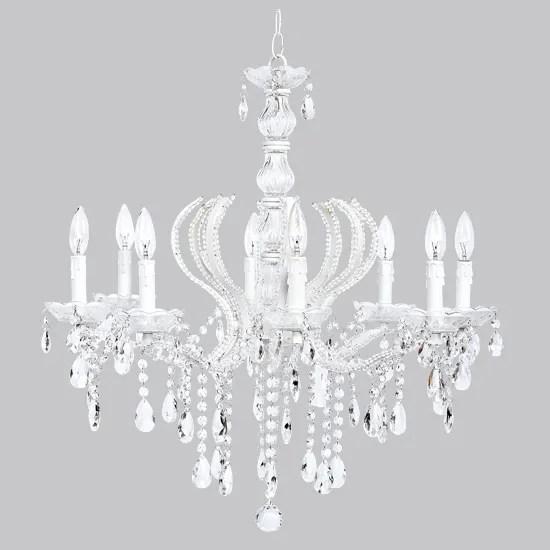 Kids Room White Jewel Crystal Chandelier Light Fixture Nursery Bedroom Lighting EBay