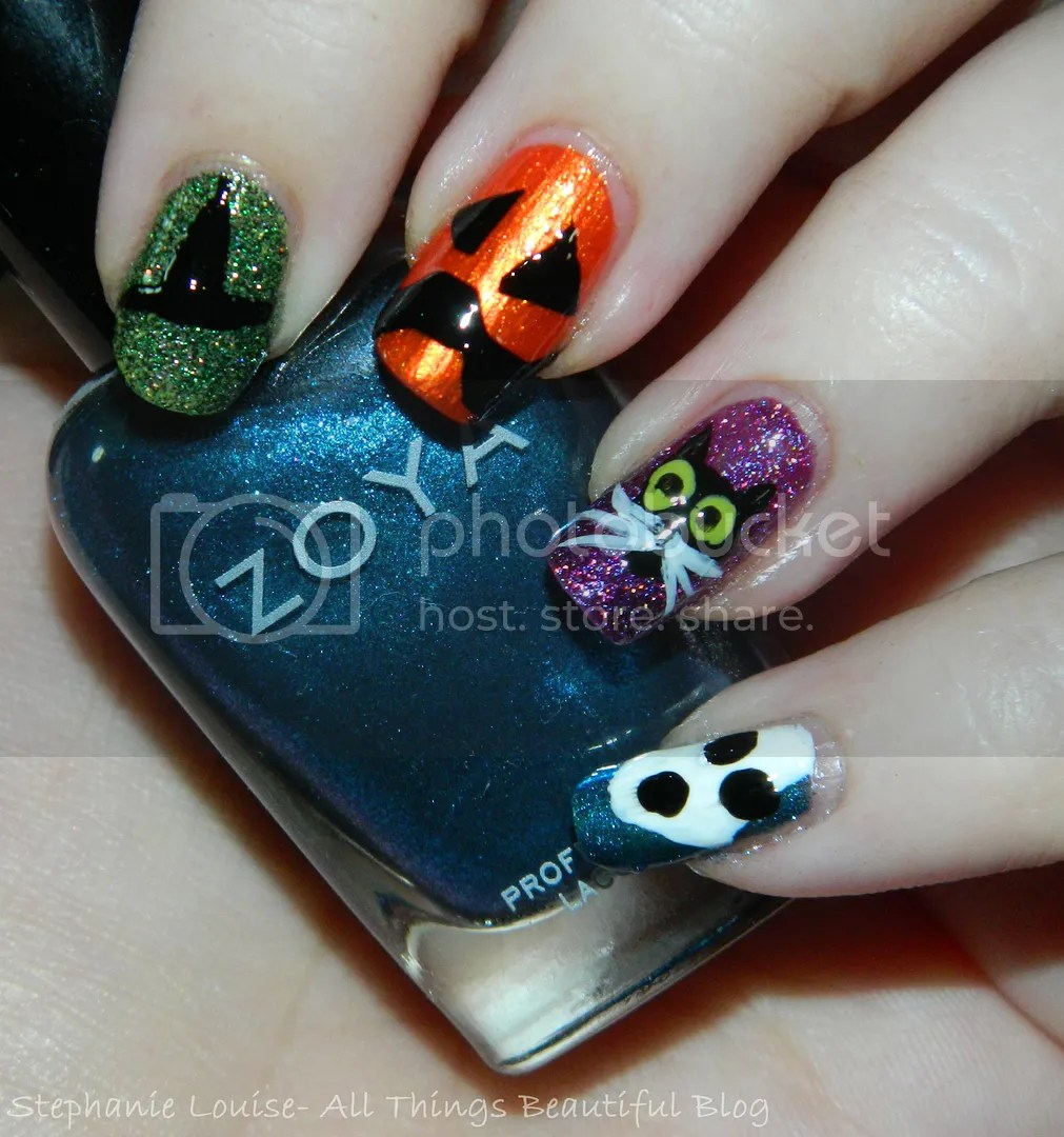 My Totally Random & Fun Easy Halloween Nail Art! - All ...
