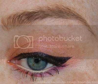 Glamour Doll Eyes Inconsiderate, Juicy Mango, & Stiletto Eyeshadow Look.