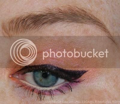 Glamour Doll Eyes Inconsiderate, Juicy Mango, & Stiletto Eyeshadow Look.