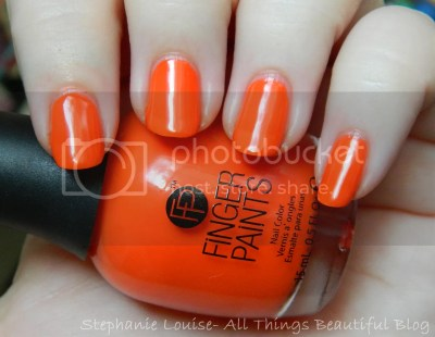 Finger Paints Three's A Party from the Kitchy Tangerine for Summer 2014 Swatches & Review