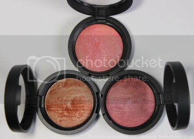 Laura Geller Baked Stackable Macaroons for Face & Eyes Review Swatches with Blush, Highlighter, & Eyeshadow via @stephlouiseatb