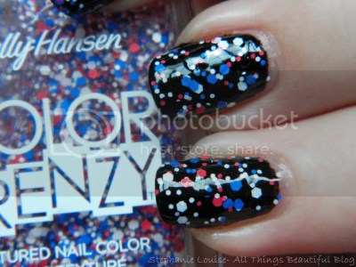 Sally Hansen Color Frenzy 2014 Red White and Hue Swatches Review Memorial Day Manicure
