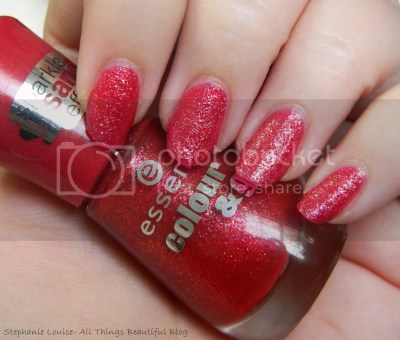 Essence Colour & Go Sparkle Sand Effect Me & My Lover Nail Polish Swatches Review