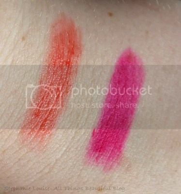 Revlon Spring 2014 Limited Edition Lipsticks in 828 Shine Carnival Spirit 014 Matte Sultry Samba Swatches Review