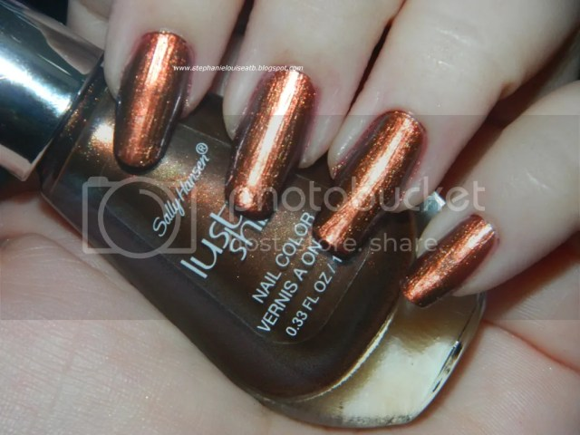 Sally Hansen Lustre Shine in Copperhead Swatches + Review!