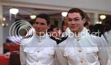 """Richard Gere y David Keith en """"Oficial y caballero"""" (""""An Officer and a Gentleman"""", 1982)"""