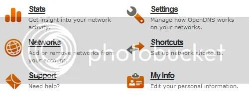 open dns settings