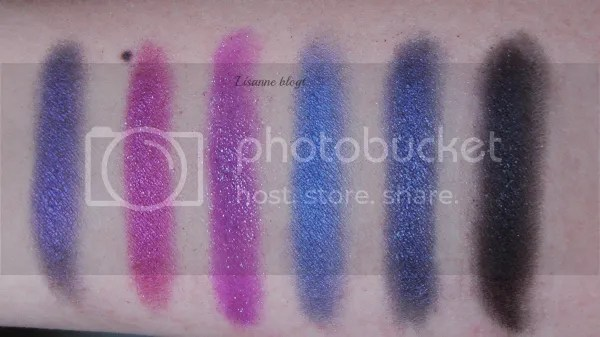 Makeup Revolution, Mermaids vs. Unicorns palette, swatches right half