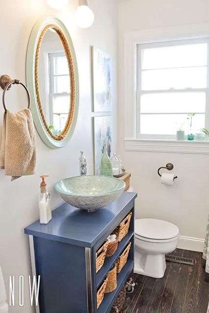 diy budget bathroom renovation reveal | beautiful matters