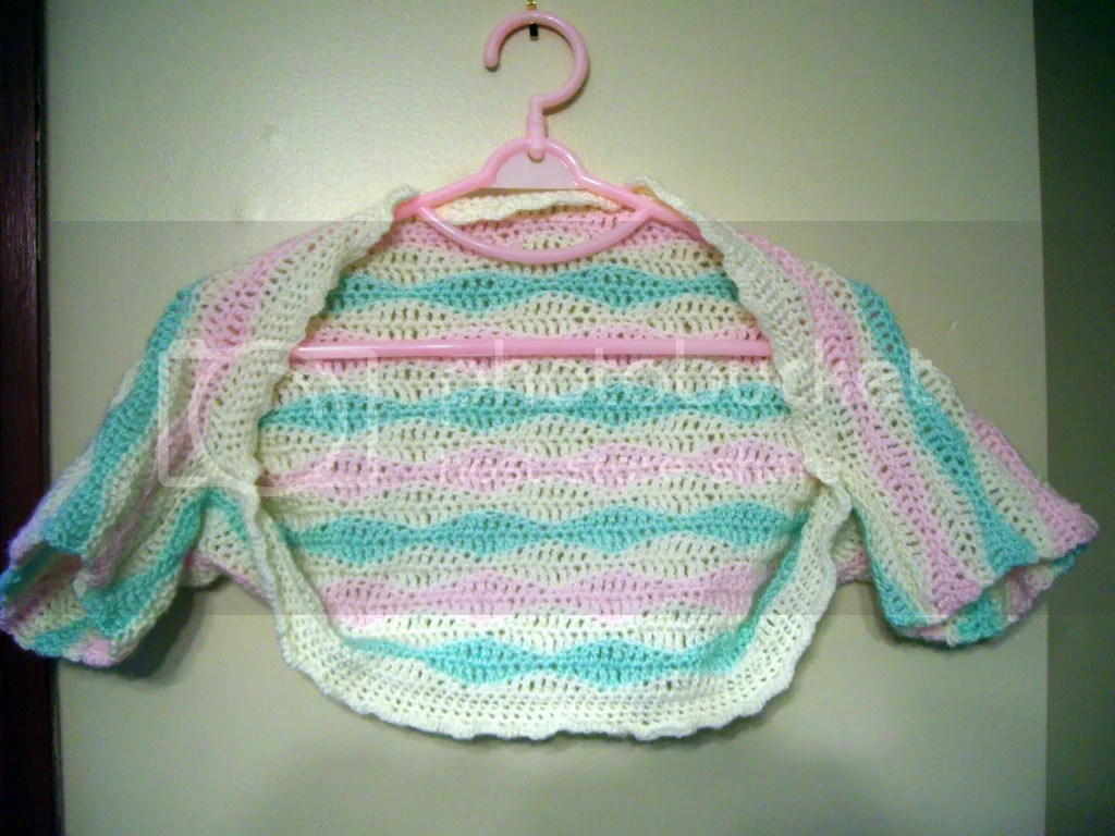 crochet toddler shrug