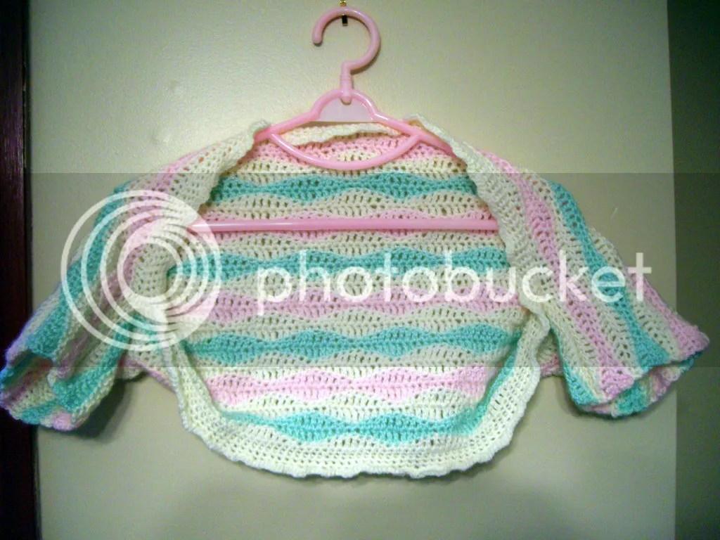 crochet toddler shrug