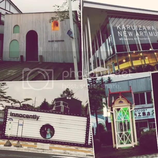 A gallery, a museum, a wedding shop and a phone booth