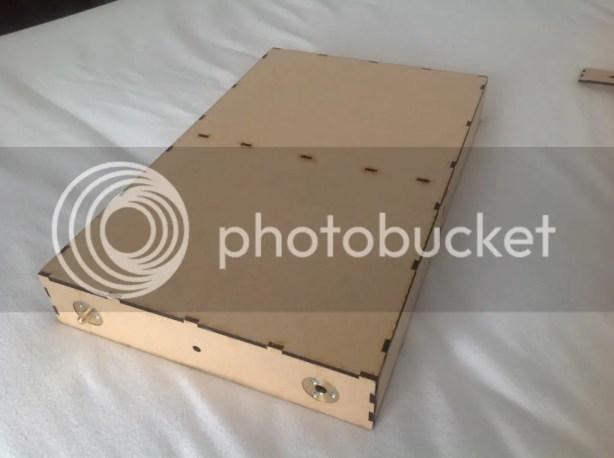 Laser cut MDF baseboard 400 x 250 mm