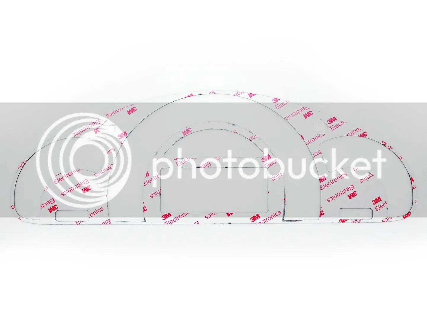 Carbon Cf Cluster Dashboard Meter Gauge Cover Fits