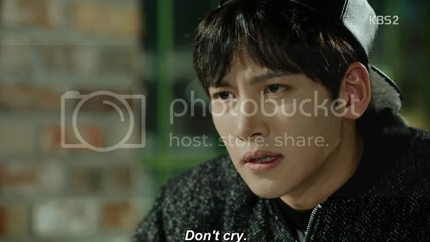 Healer ep 13 Jung Hoo tells his mum not to cry