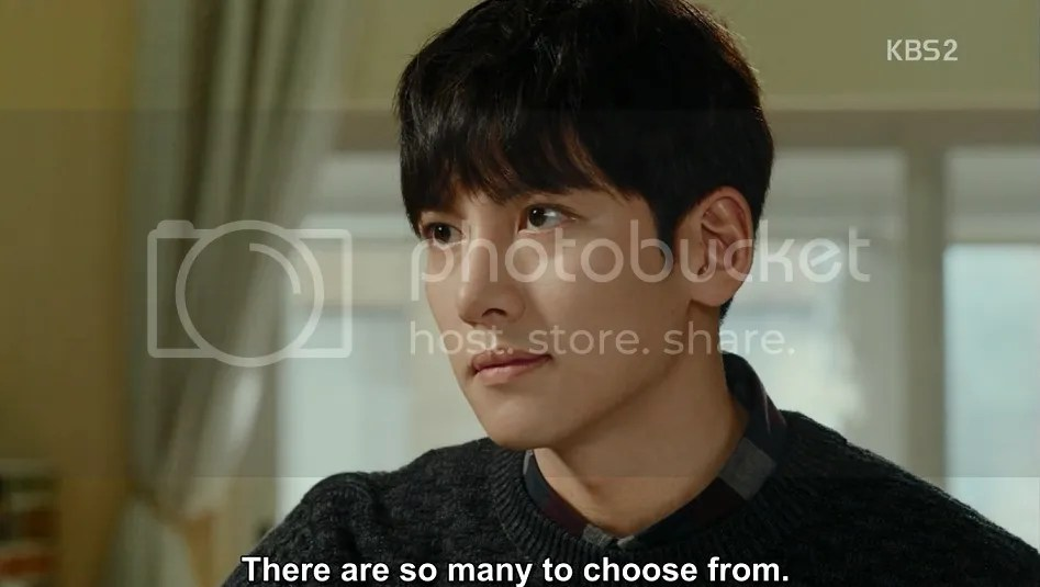 Healer ep 5 Bong Sook says there are too many dishes to choose from