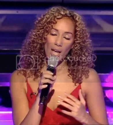 Leona Lewis performing during week 4 of the X-Factor.