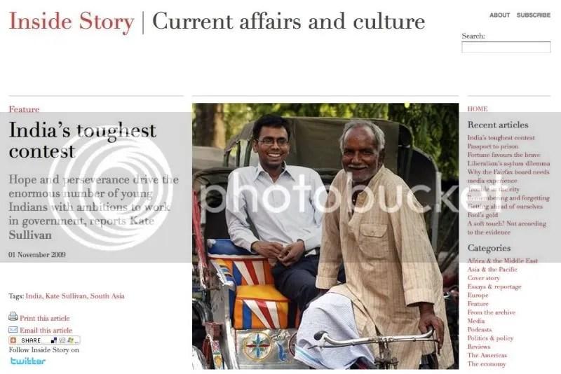India's toughest contest
