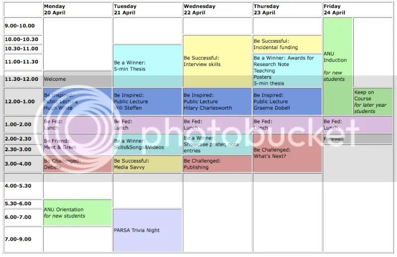 ResearchFest schedule