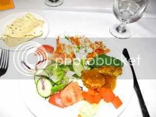Indian Salad Buffet = 316 calories estimate