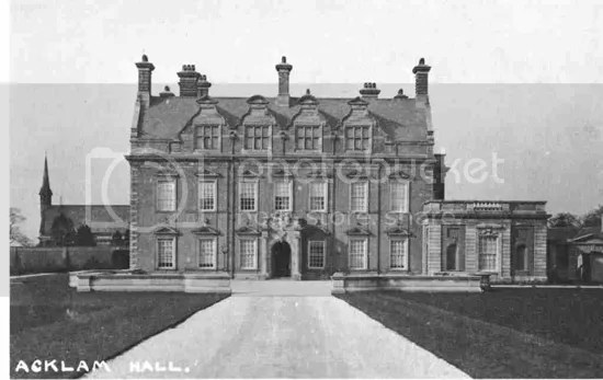 Acklam Hall old postcard