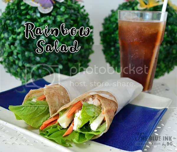 Rainbow Salad Chicken Wrap - Yummy Cupcakes and Sandwiches at Bacolod Cupcake Cafe, Inc.