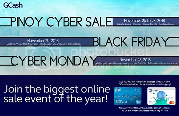 Experience Best Online Bargains From November 25 to 28, Plus 20% Rebate From GCash American Express Virtual Card