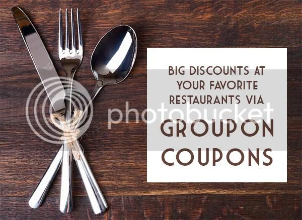 Big Discounts At Your Favorite Restaurants Via Groupon Coupons