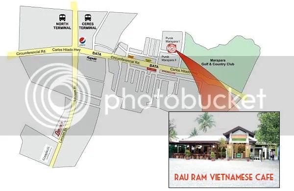 Rau Ram Vietnamese Cafe Map - Enjoy Sumptuous Food At Rau Ram (Saigon) Vietnamese Cafe In Bacolod City
