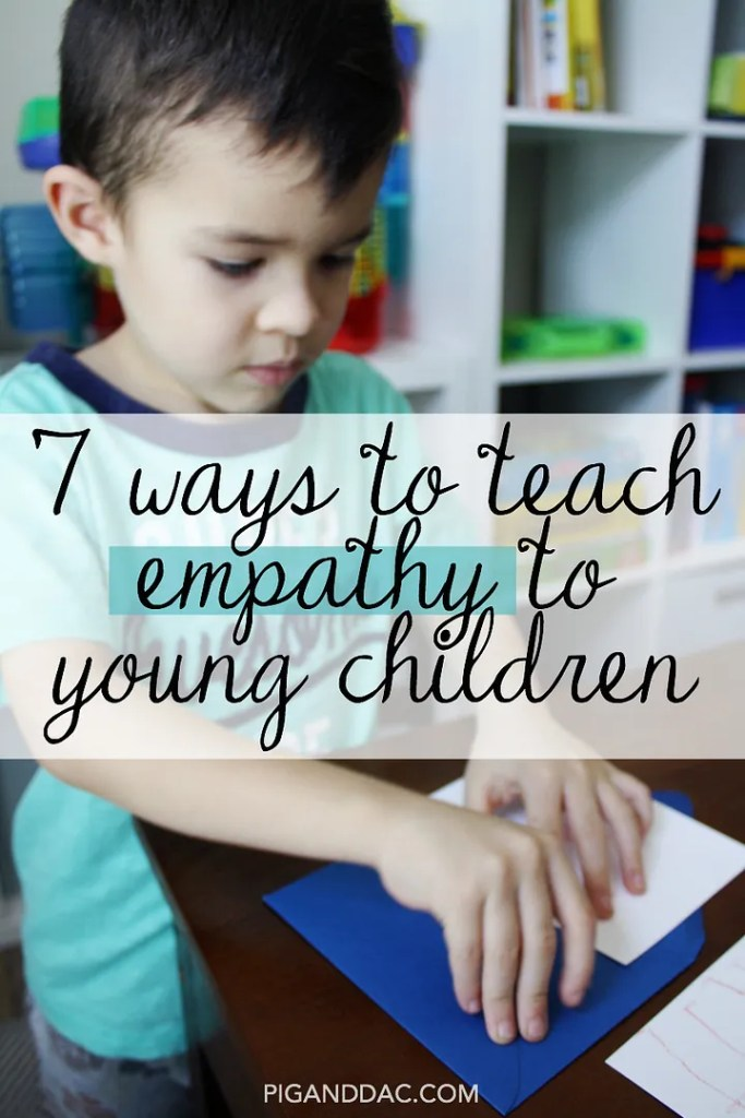 7 ways we can encourage the development of empathy in young children.