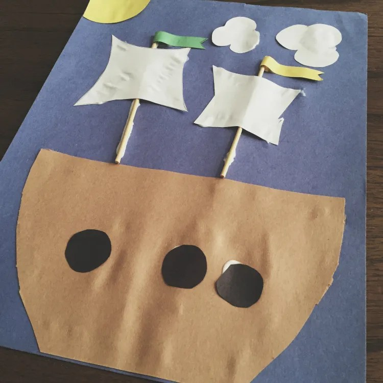 Mayflower craft, cute Thanksgiving activity!