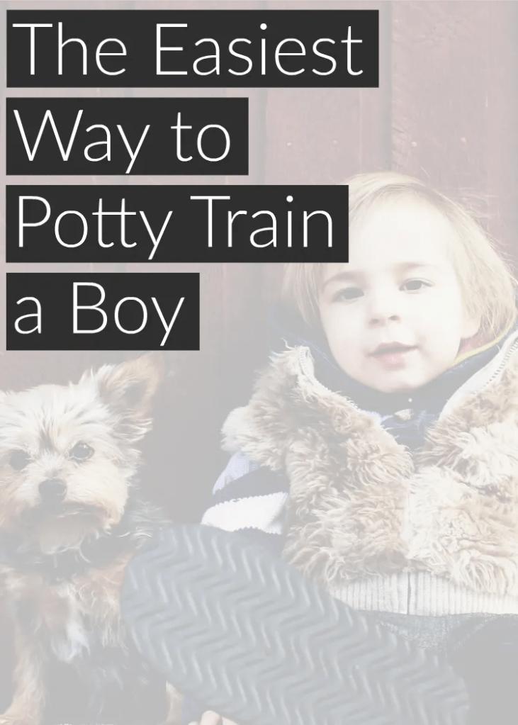 The no headache way to potty train a boy