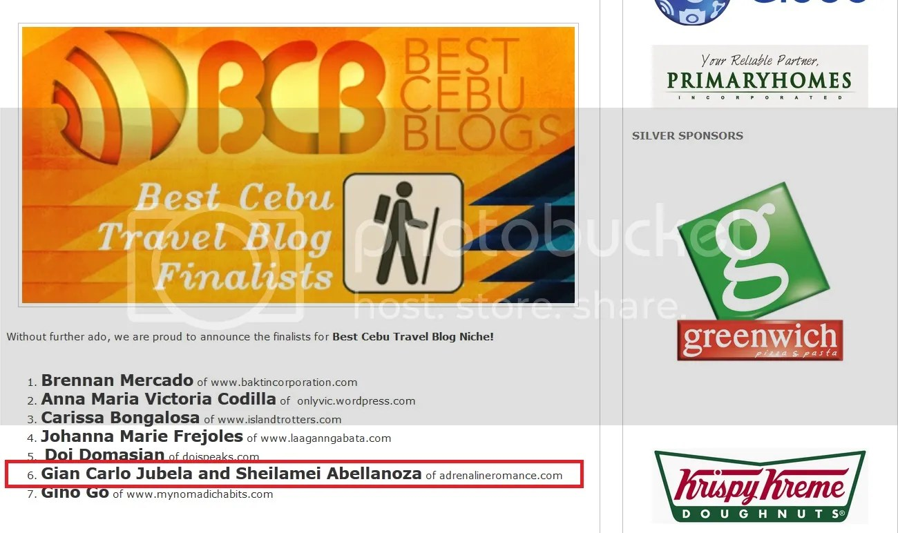 Best of Cebu Blog Awards 2014