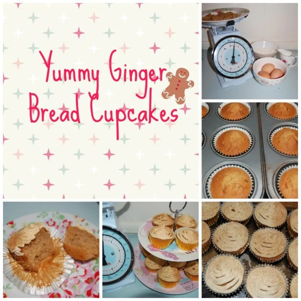 Christmas Ginger Bread Cupcakes Vintage Frills
