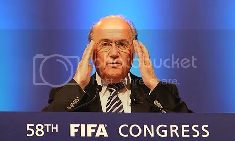 Blatter Channels Someone With a Brain