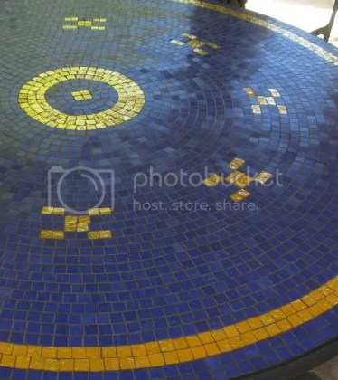 Gold and Blue Mosaic Table