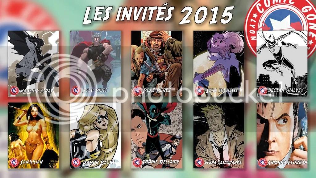 Les invités de la Lyon BD Comic Gone 2015