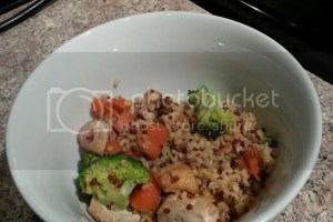 Red Quinoa and Bulgur Stir Fry