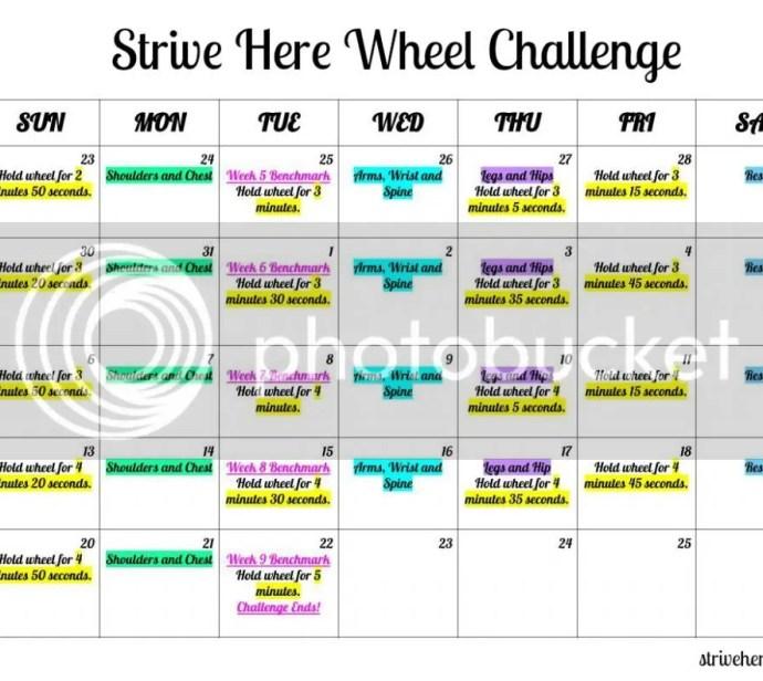 Wheel Challenge Calendar Part 2